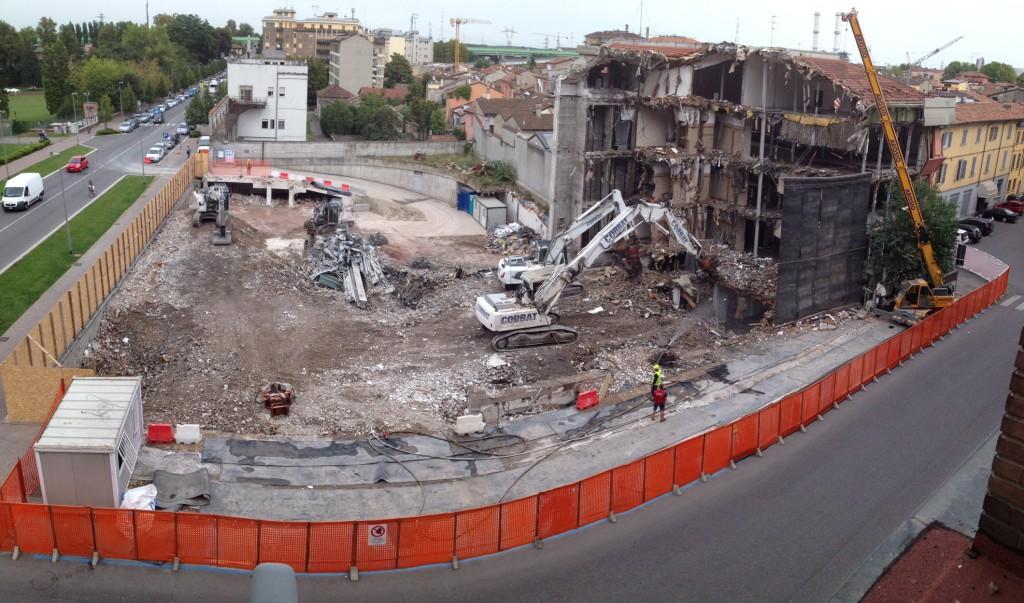 panoramica demolizione ex enel
