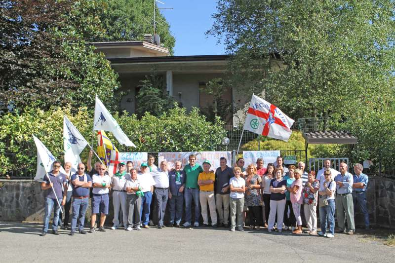 Protesta Lega Nord a Pontedellolio