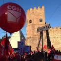 Manifestazione Cgil contro il Jobs Act, a Roma centinaia di piacentini