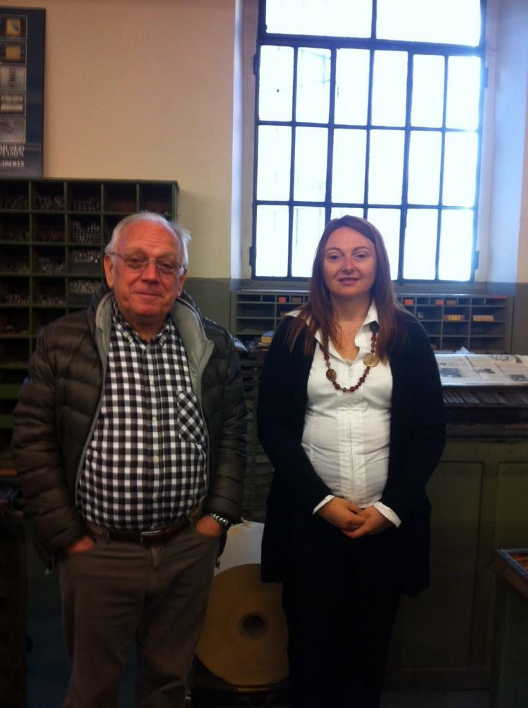 Luigi Baldini, presidente dell'Aido e Chiara Dabusti