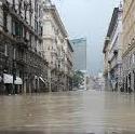 Calciatori del Borgonovo a Genova per aiutare gli alluvionati