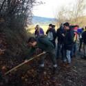 Travo: studenti con badili e rastrelli per prevenire le frane