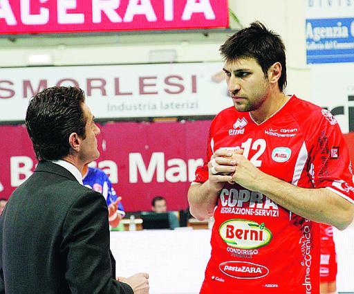 Vencislav Simeonov a colloquio con coach Lorenzetti