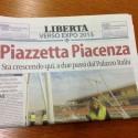 """""""Piazzetta Piacenza"""", con Libertà domani l'inserto verso Expo 2015"""