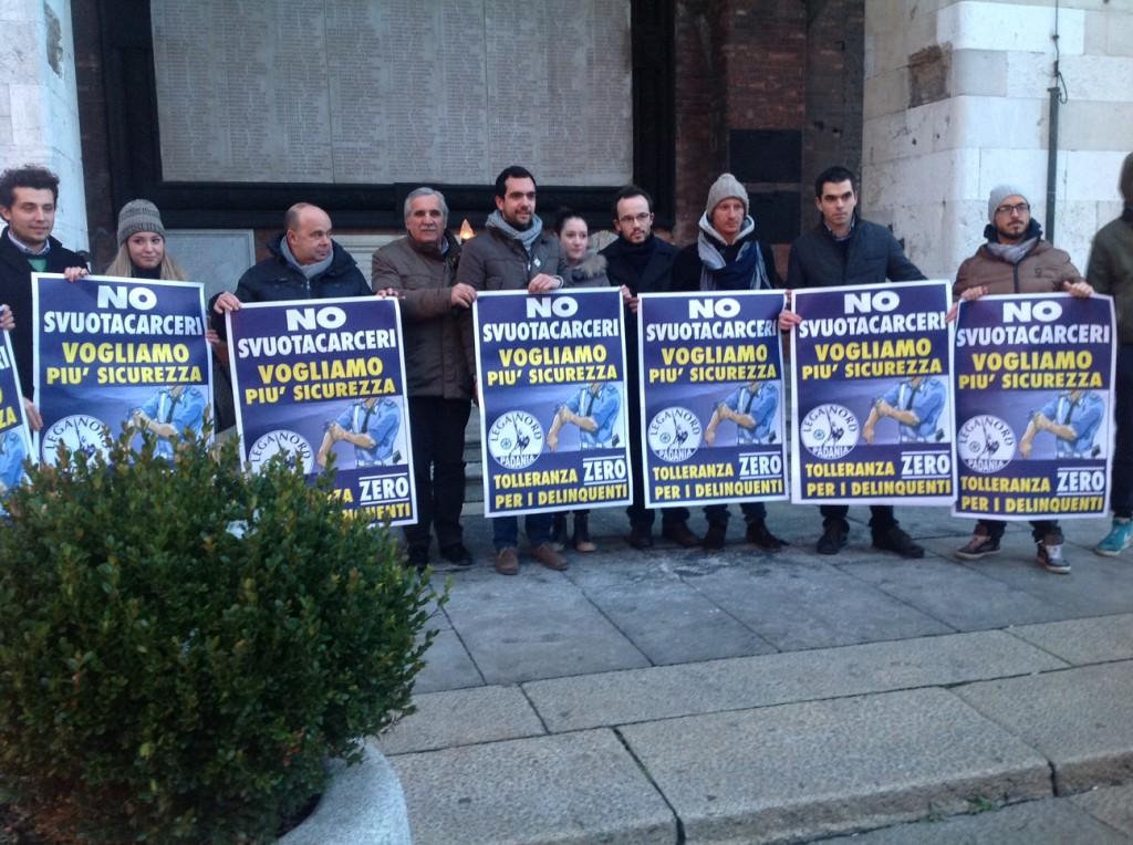 Protesta Lega Nord