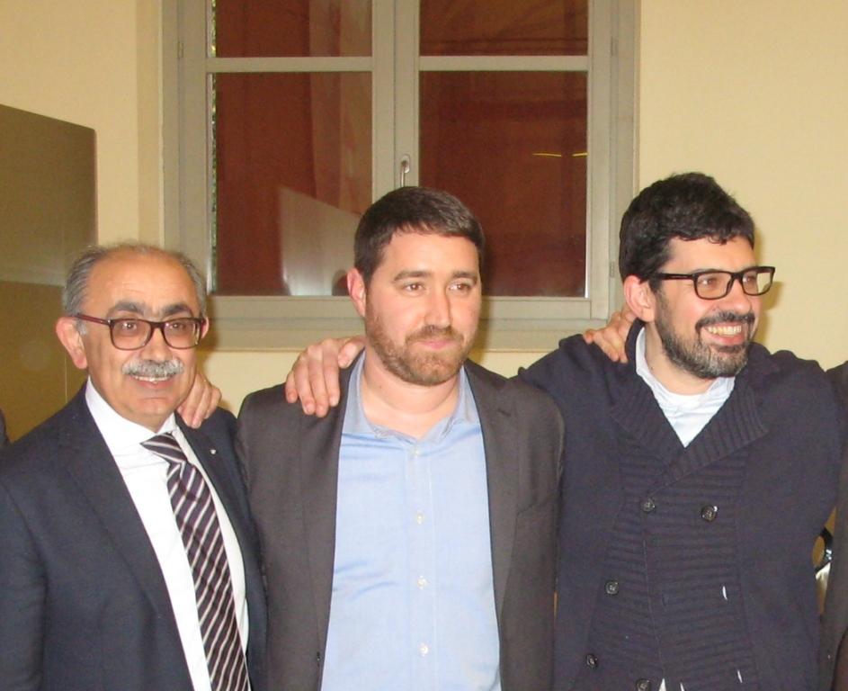 Maurizio Molinelli, vicepresidente. Andrea Volta, presidente Legacoop Emilia Ovest. Luca Bosi, vicepresidente