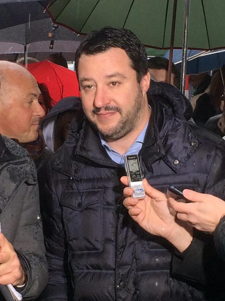 """Cortemaggiore, Salvini attacca Renzi e il Milan di Inzaghi: """"Il più triste"""""""
