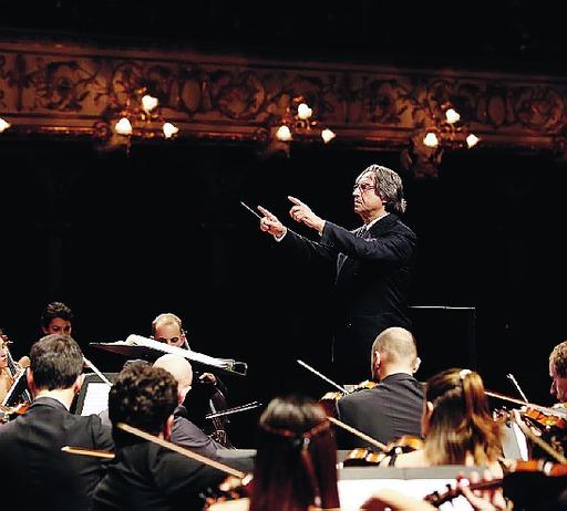 Riccardo Muti e l'orchestra Cherubini
