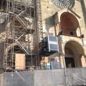Duomo, prosegue il cantiere per Expo: montato l'ascensore provvisorio