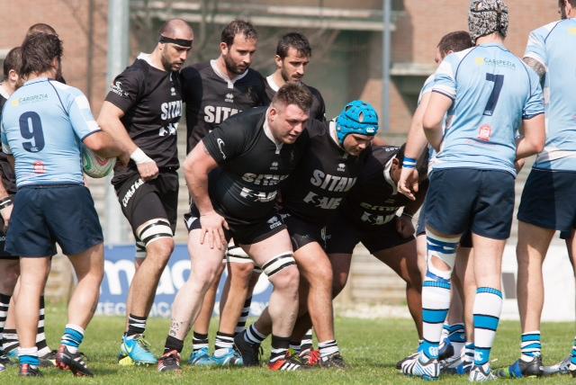 Rugby Lyons vs Pro Recco - mischia (danani) petrarelli.a
