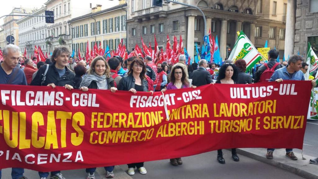 Piacentini alla manifestazione sindacale sul commercio di Milano  (3)