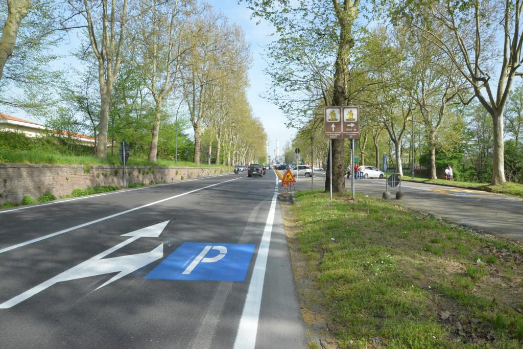 nuovo parcheggio via XXI Aprile