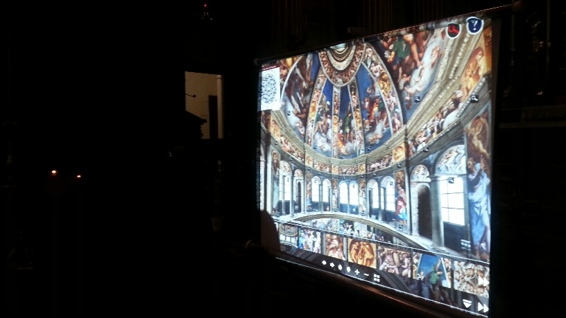 Santa Maria di Campagna. Ascesa tra gli affreschi con un touchscreen