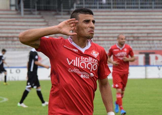 Piacenza Calcio Fidenza, per P.Gentilotti (FotoDELPAPA) SABER esulta per gol