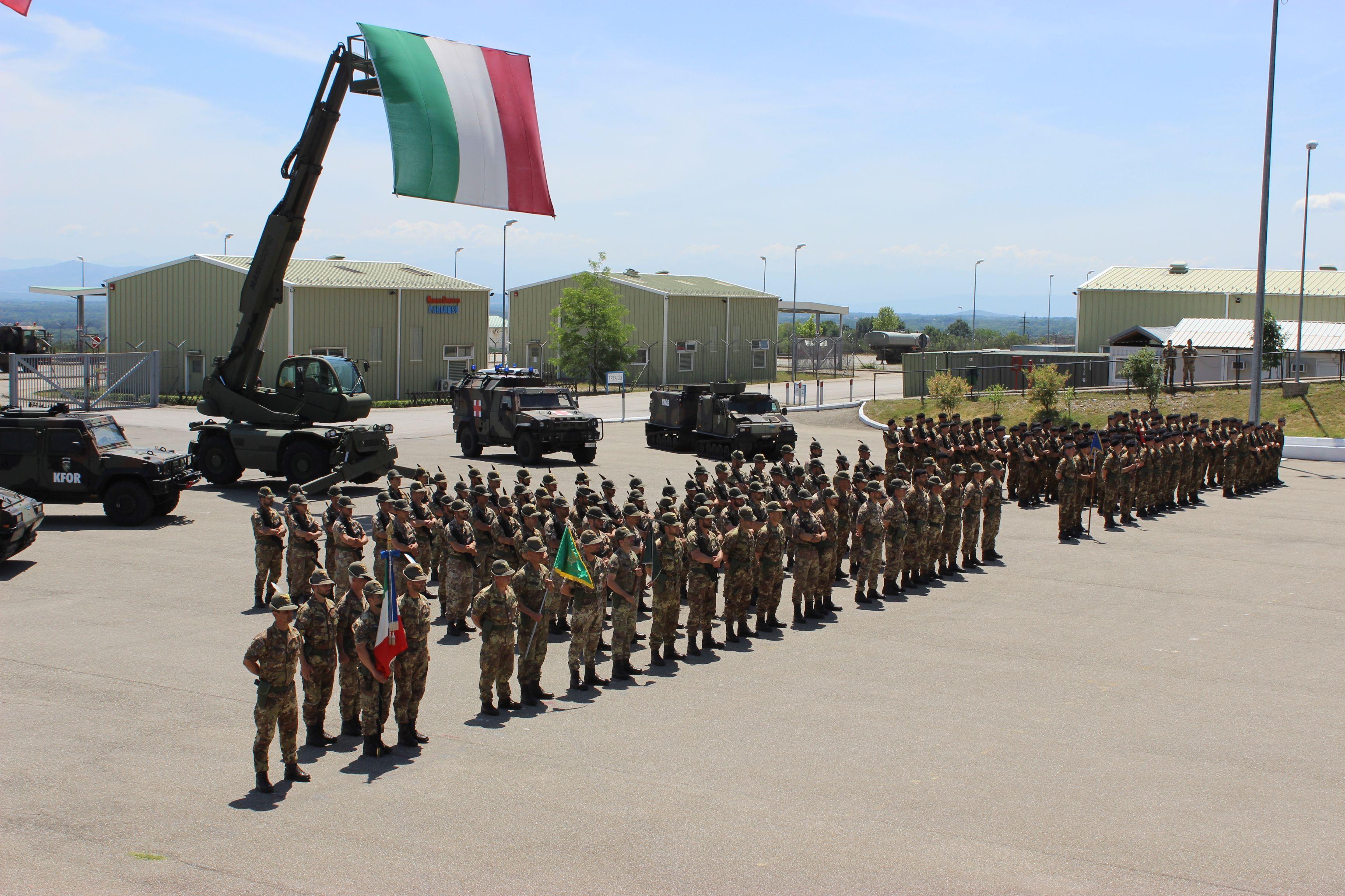 il contingente italiano schierato