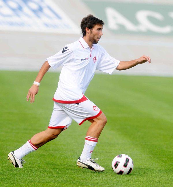 Andrea Lussardi ai tempi in cui indossava la maglia del Piacenza