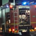 Lugagnano, autocarro in fiamme. Intervengono i vigili del fuoco