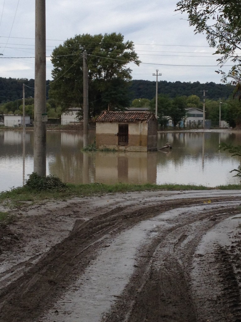 Alluvione 2015 - Casetta pozzo di Caminati a Pieve Dugliara