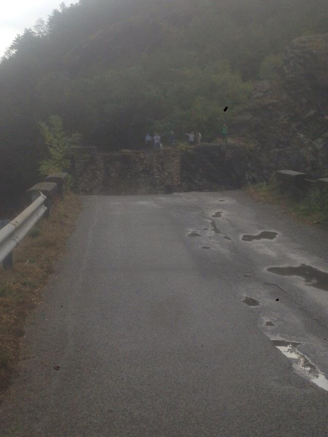 Ponte di Barberino crollato