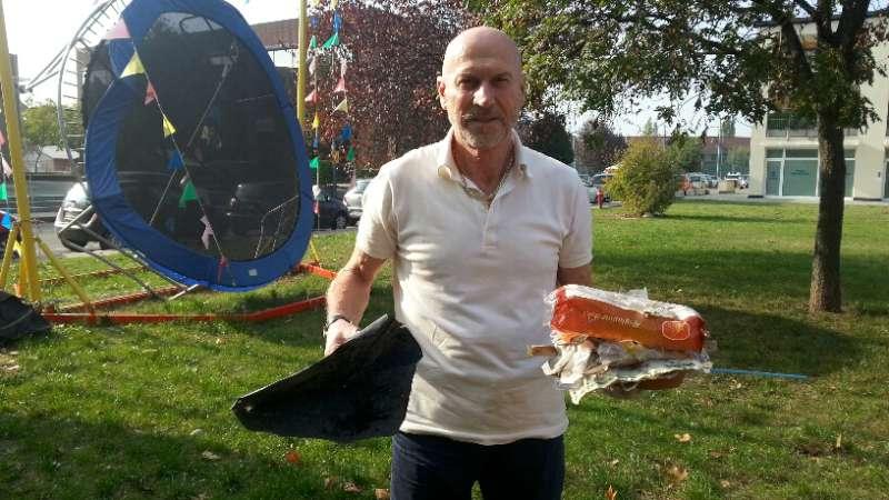 Renato Tassi, raccolta rifiuti alla Besurica (1)
