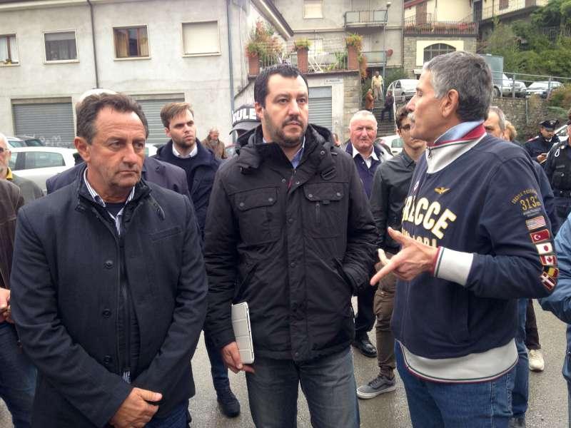 """Matteo Salvini in Valnure: """"Ascoltare sempre la gente di montagna"""""""