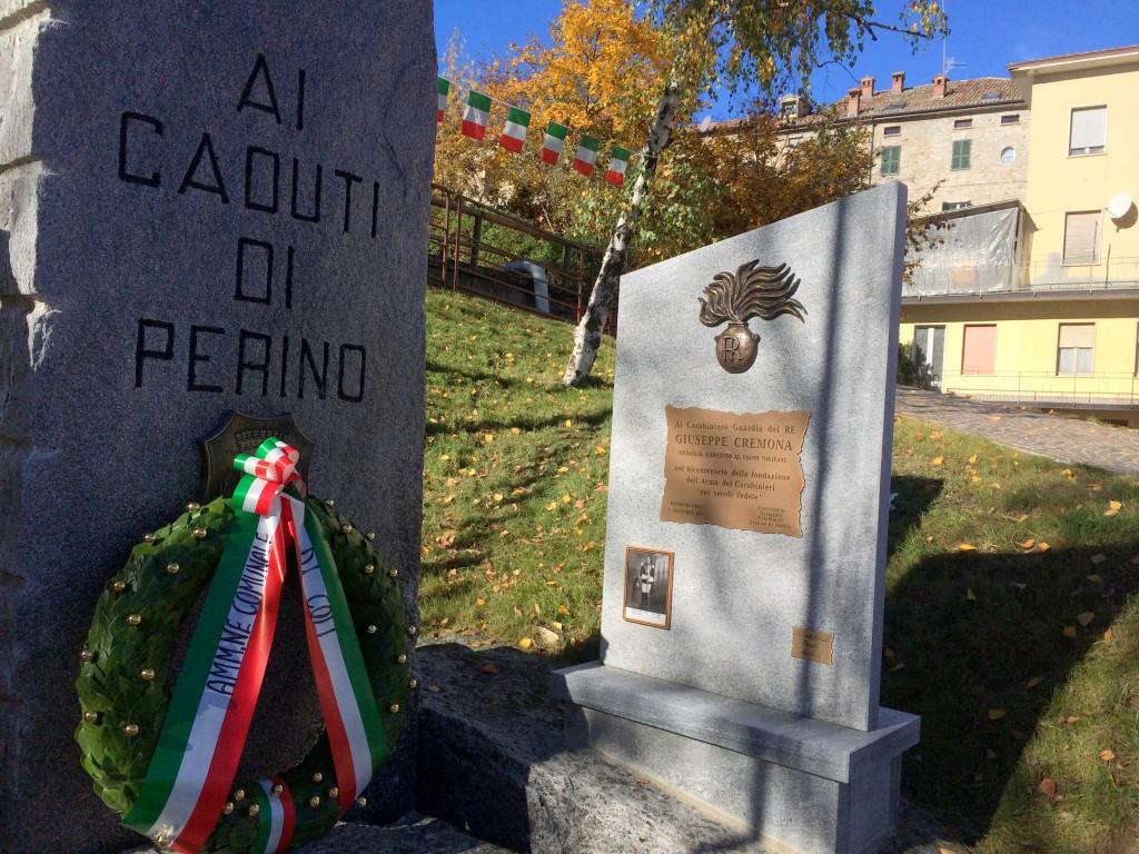 Stele per il carabiniere Giuseppe Cremona