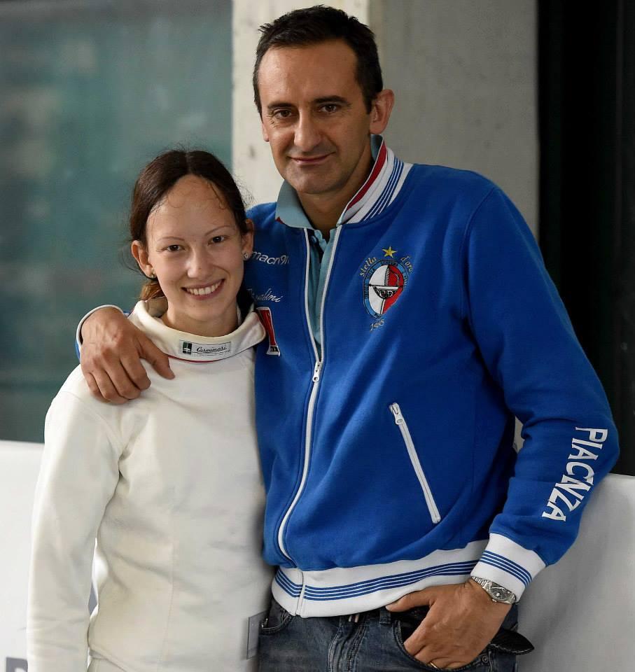 Margherita Libelli (Pettorelli) con il maestro Alessandro Bossalini