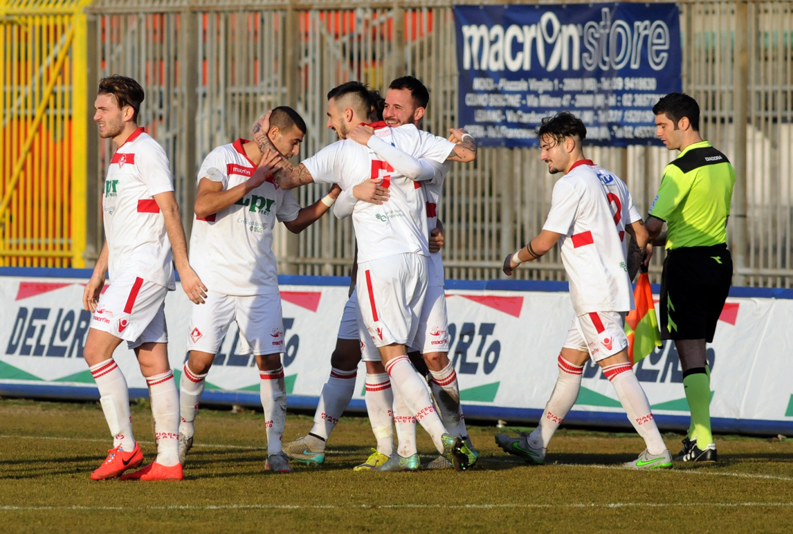 Piacenza Calcio Monza per P.Gentilotti (FotoDELPAPA) Taugordeau esultanza
