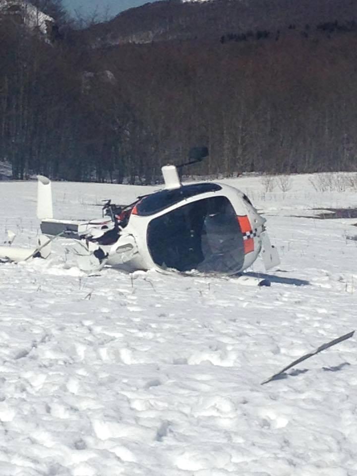 Incidente elicottero a Prato Cipolla