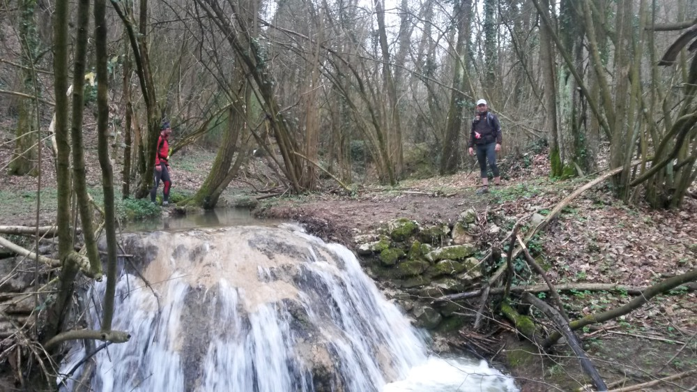 percorso Traiballando il guado del Rio Cassa-1000