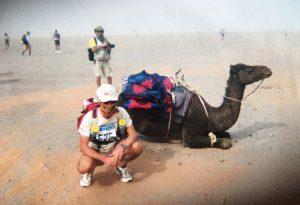 Simone Zahami, personal trainer piacentino alla maratona nel Sahara