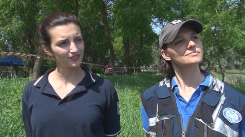 A sinistra, Valeria Ansferri (Gruppo Alfa) e Claudia Pollani (Search &Rescue)