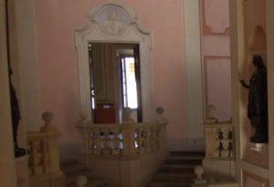 Lo scalone a Y e il salone di Ricchetti del palazzo Opera Pia Alberoni nel Tgl Più