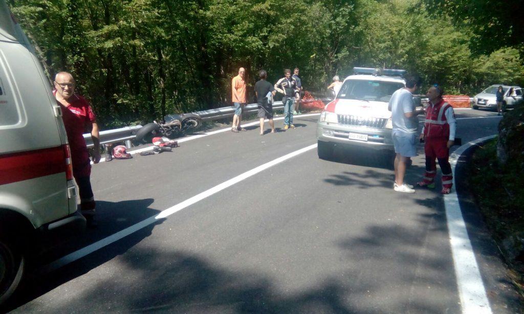 incidente moto ponte organasco