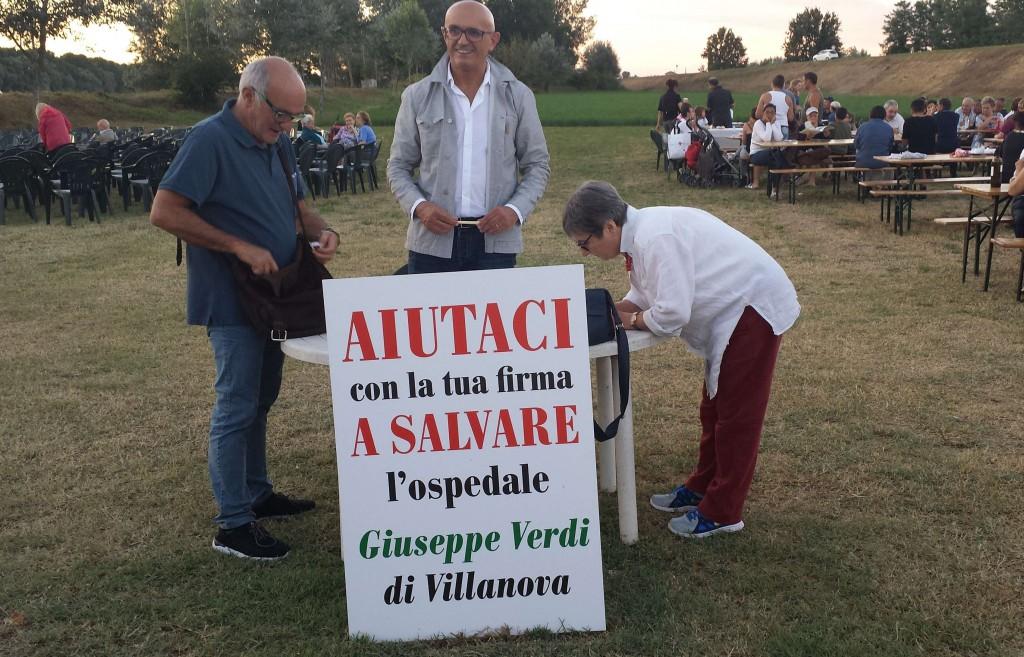 Raccolta firme per l'ospedale di Villanova