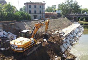Caorso, sistemate le sponde del Chiavenna devastate dall'alluvione di febbraio