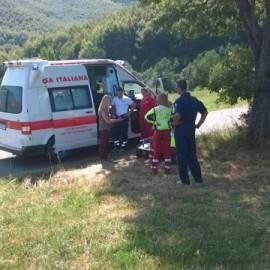 Selva di Ferriere: auto nella scarpata, serve il soccorso alpino. Foto