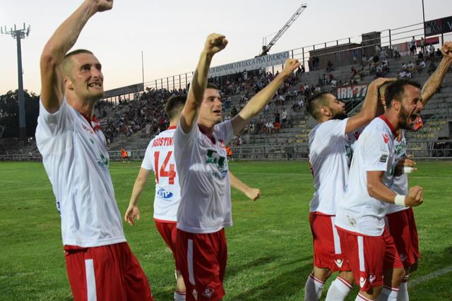 Piacenza Calcio Lucchese ( Foto DEL PAPA ) esultanza