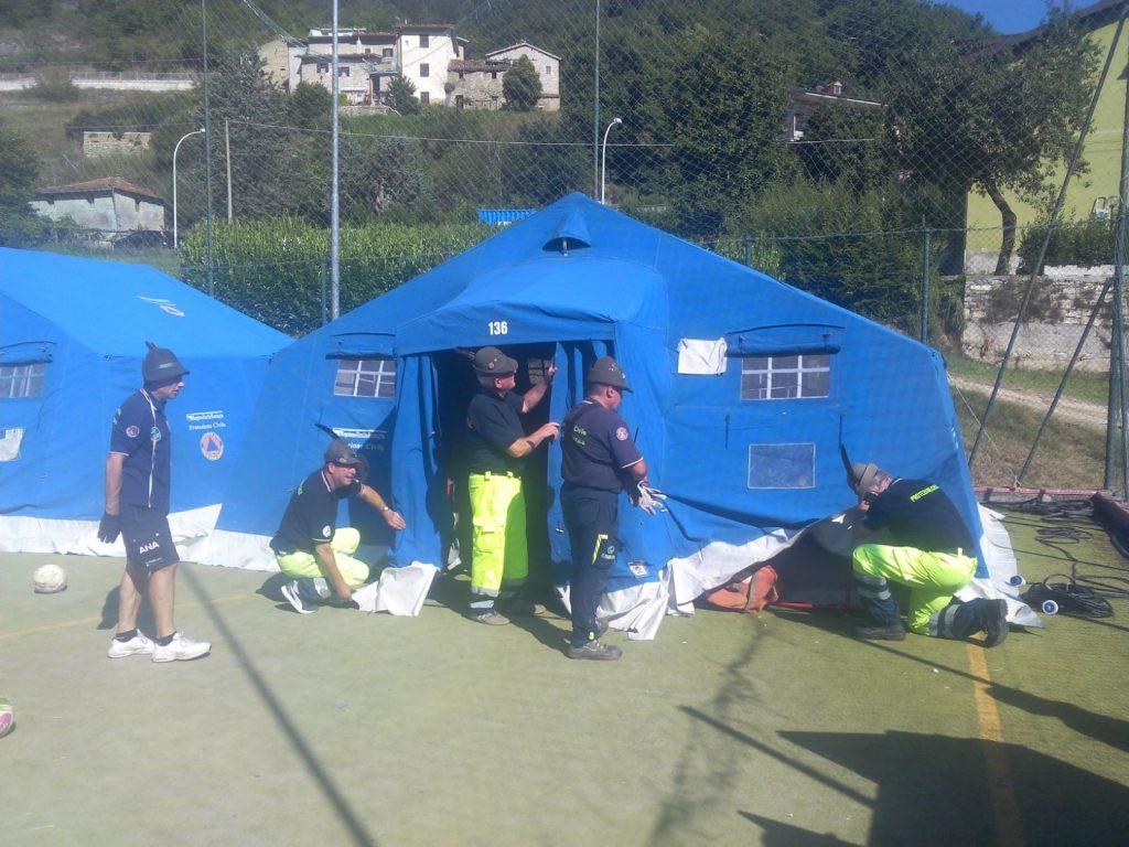 Protezione Civile ANA dell'Emilia Romagna - Terremoto in centro Italia