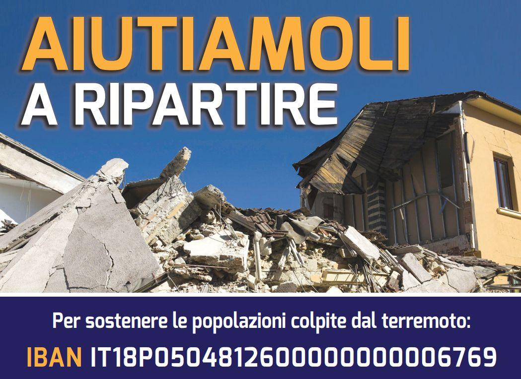 Terremoto centro Italia, sottoscrizione di Libertà per dare un aiuto concreto