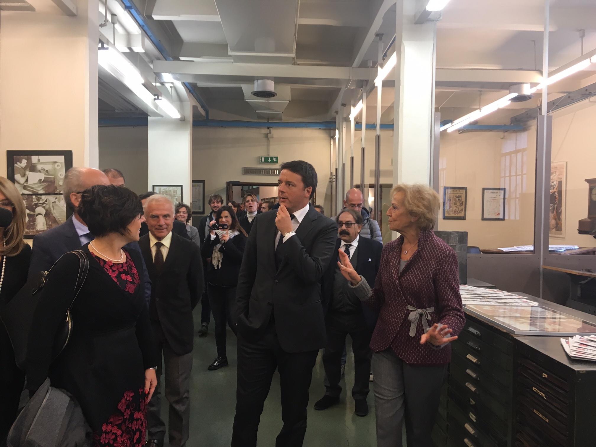 """Il premier Renzi in visita a Libertà: """"Azienda storica che guarda al futuro"""""""