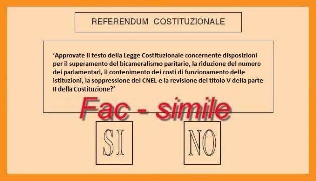 referendum costituzionale 4 dicembre scheda