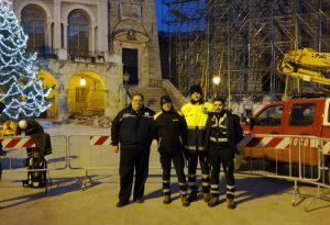 Capodanno al gelo tra i terremotati. Volontari di Protezione Civile in Umbria