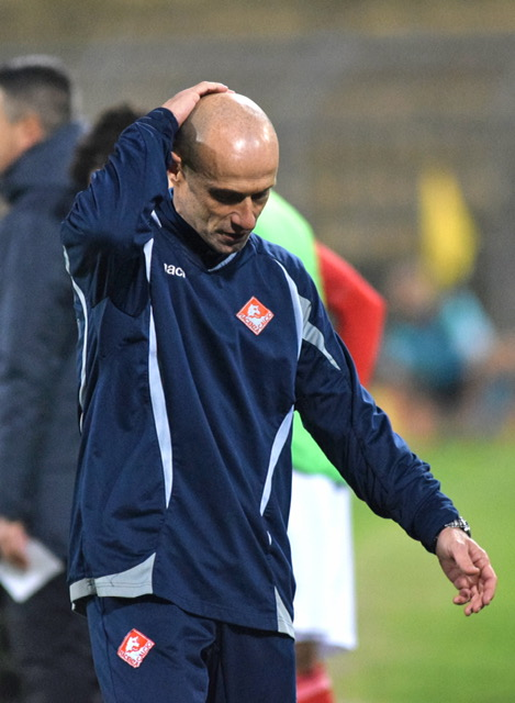 Piacenza Calcio Racing Roma (FotoDELPAPA) Franzini deluso
