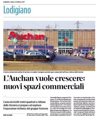San Rocco al Porto, avanza il progetto per l'allargamento dell'Auchan