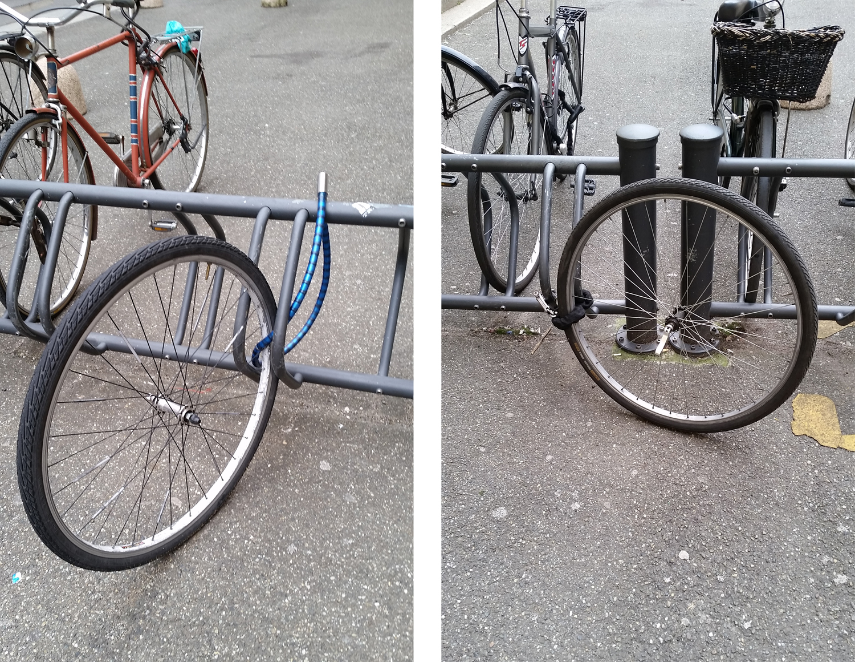 Biciclette saccheggiate<br>Ruote abbandonate nelle rastrelliere