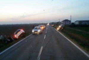 Scontro sulla provinciale di Cortemaggiore, due persone ferite