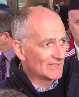 Il capo della polizia Franco Gabrielli a Piacenza domenica 7 maggio