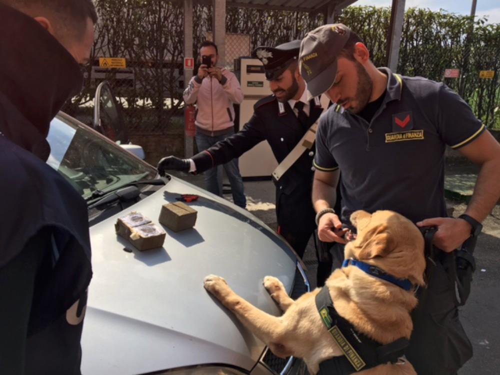 Caorso, arrestato un corriere della droga: 2 chili di hashish destinati al mercato piacentino