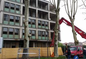 Ruspa da 200 tonnellate per la demolizione: edifcio signorile nel 2018